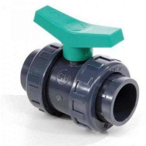 Шаровый кран ПВХ 1,6 МПа d_20 мм Coraplax (HDPE-EPDM) /1010020 Coraplax Шаровый кран ПВХ