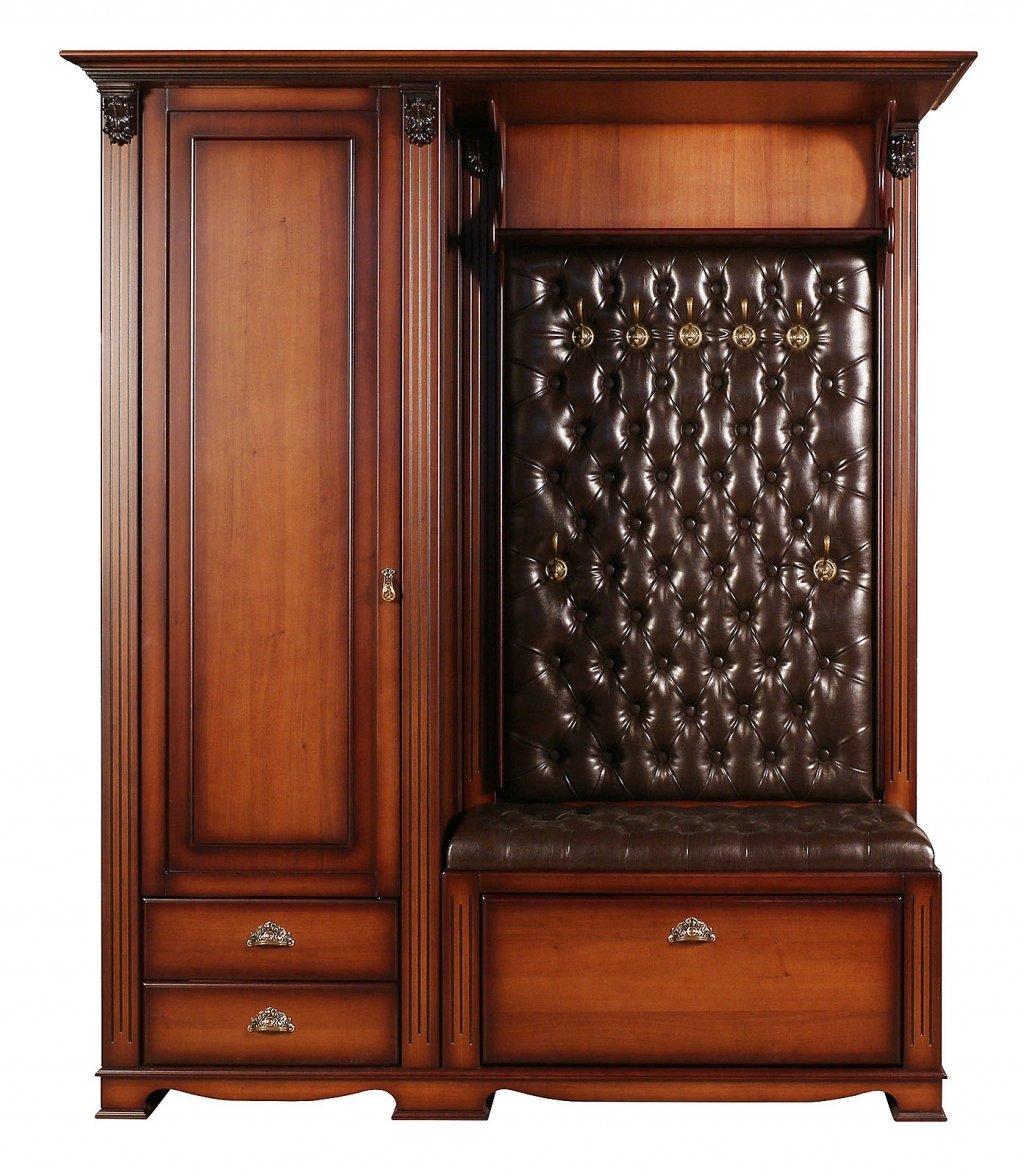 Прихожая Лувр с одностворчатым шкафом, вешалкой и банкеткой-обувницей EL7405L Or Brown