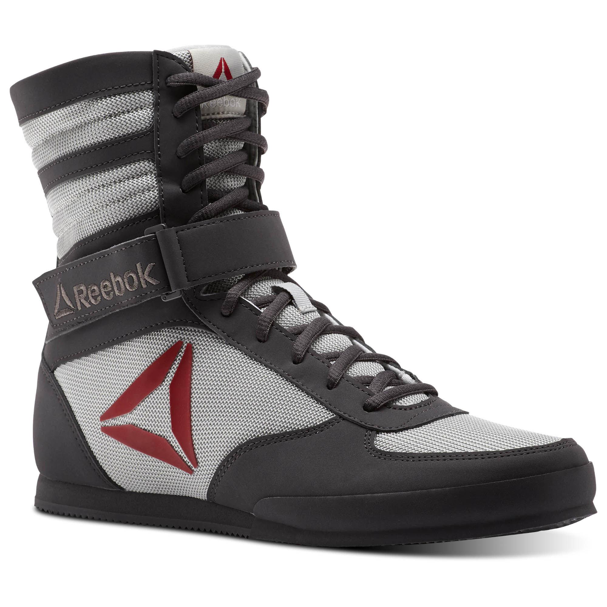 Обувь для бокса Reebok Boxing Boot Ash Grey/Skull Grey/Excellent Red/White