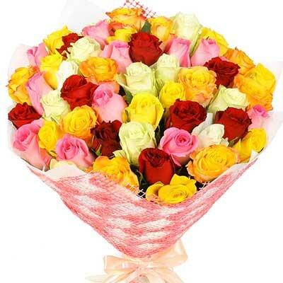 Букет из 51 кенийской розы