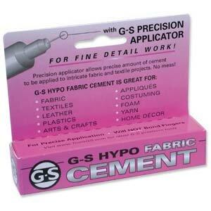 Клей для ткани, G-S Hypo Fabric Cement, прозрачный, 9 мл