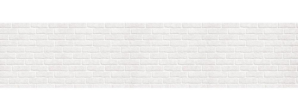 Кухонный фартук ХДФ 0,6х2,44м, кирпич белый