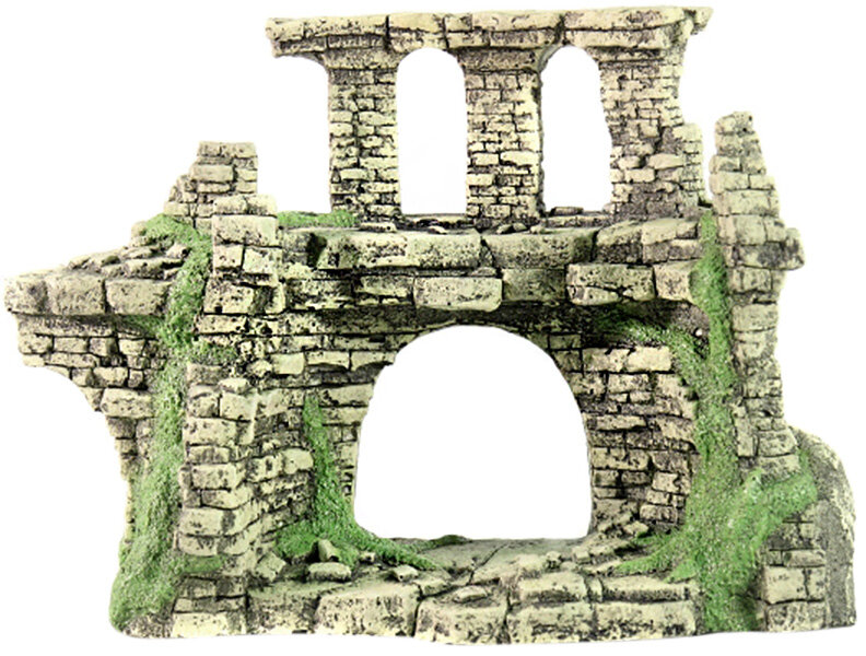 Грот для аквариума Крепость № 203 пластиковый, 30 х 12 х 20 см, DEKSI (1 шт)