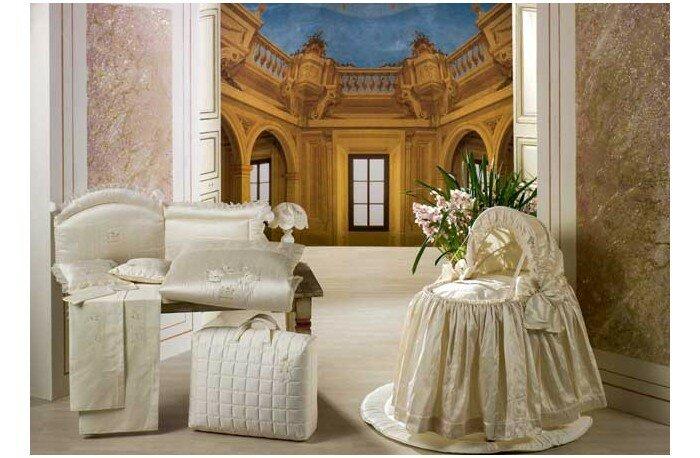 Одеяло BabyPiu Шелковые эмоции - Одеяло из ткани пике с вышивкой 75х90 для люльки