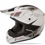 Fly Racing Kinetic Impulse 2015 шлем кроссовый, бело-черный матовый / XL