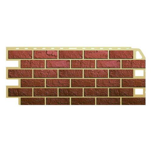 Цокольный сайдинг (фасадные панели) Кирпич Красный (47см)