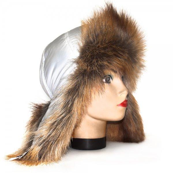 Шапка из меха лисы купить