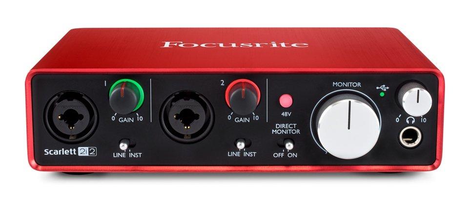 Внешняя звуковая карта с USB FOCUSRITE Scarlett 2i2 2nd Gen USB