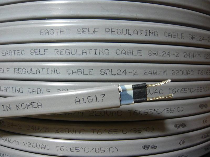 Саморегулирующийся нагревательный кабель для труб SRL 24-2
