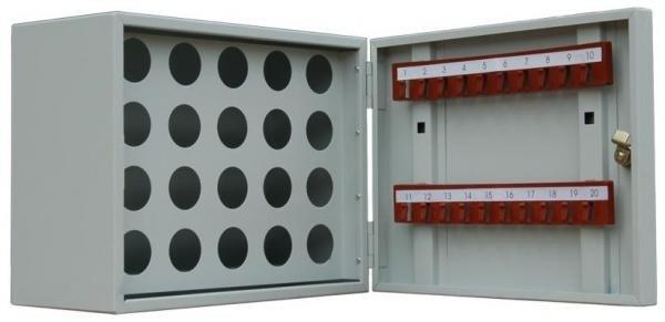 Ключница настенная металлическая КЛ 20П для ключей и пеналов Меткон