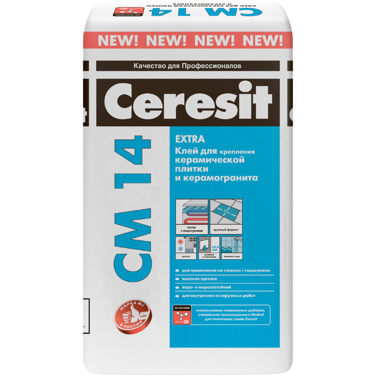 Клей для керамической плитки и керамогранита СМ-14 Extra 25кг., Ceresit
