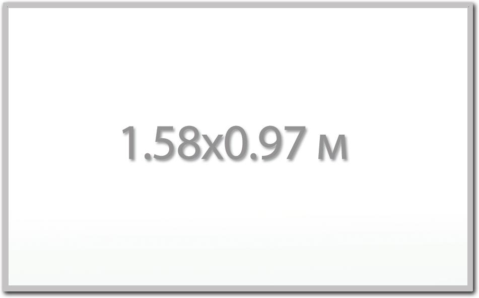 Магнитная доска 1.58х0.97 м.,  Стандарт  ИП Севостьянов Магнитная доска 1.58х0.97 м.,  Стандарт 