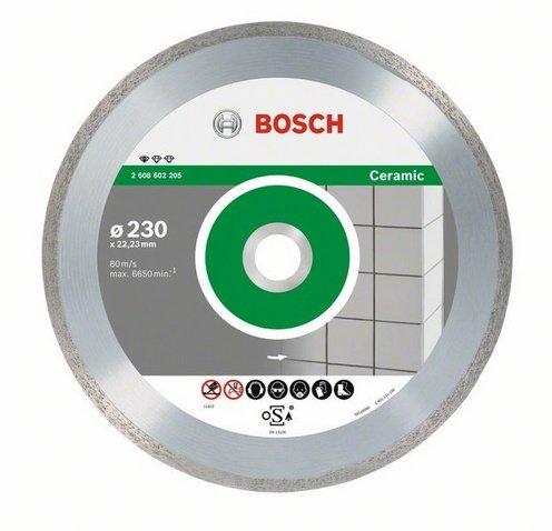 Круг алмазный Bosch Standard for ceramic 125x22 корона (сплошной)(2.608.602.202)