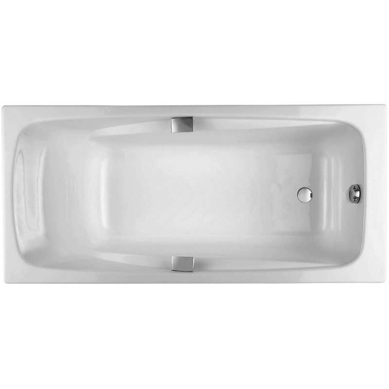 Чугунная ванна Jacob Delafon Repos 170x80 с антискользящим покрытием