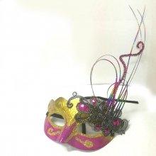 Карнавальная маска Фиолетовая с золотом
