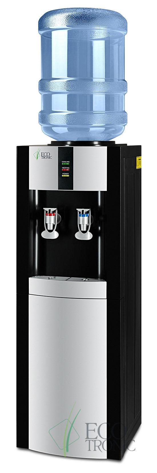 Кулер для воды Ecotronic H1-LF Black напольный с холодильником
