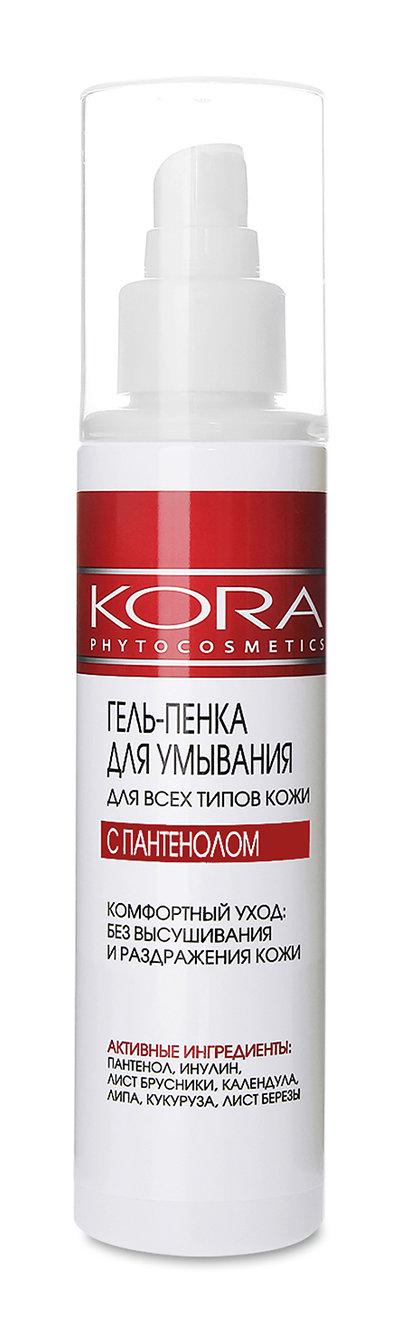KORA Гель-пенка для умывания для всех типов кожи 150 мл