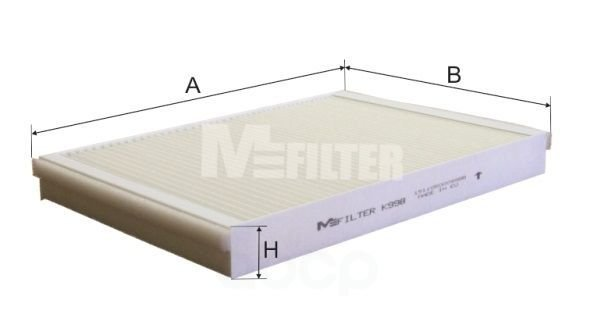 Фильтр салона M-Filter арт. K998
