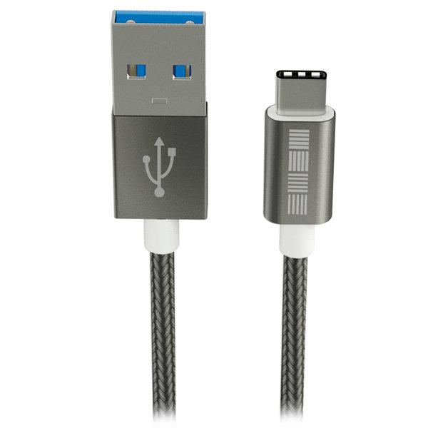 Кабель USB Type-C InterStep USB 3.0 Neylon Space Gray 1m (IS-DC-TYPCUSNSG-000