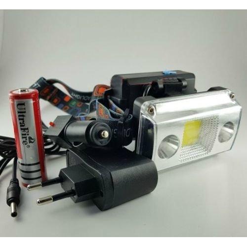 Фонарь налобный аккумуляторный светодиодный