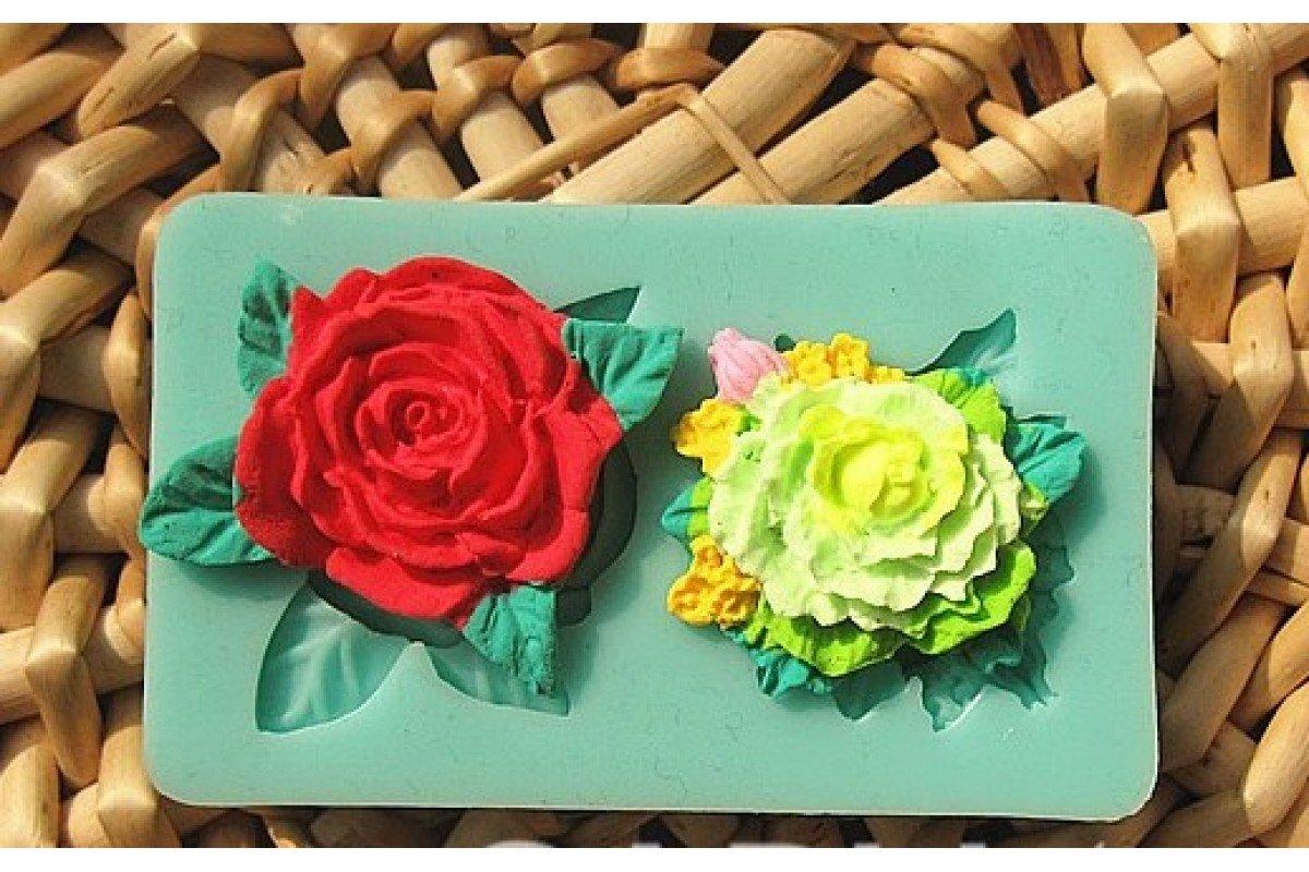 """Молд силиконовый """"Цветущие розы"""""""