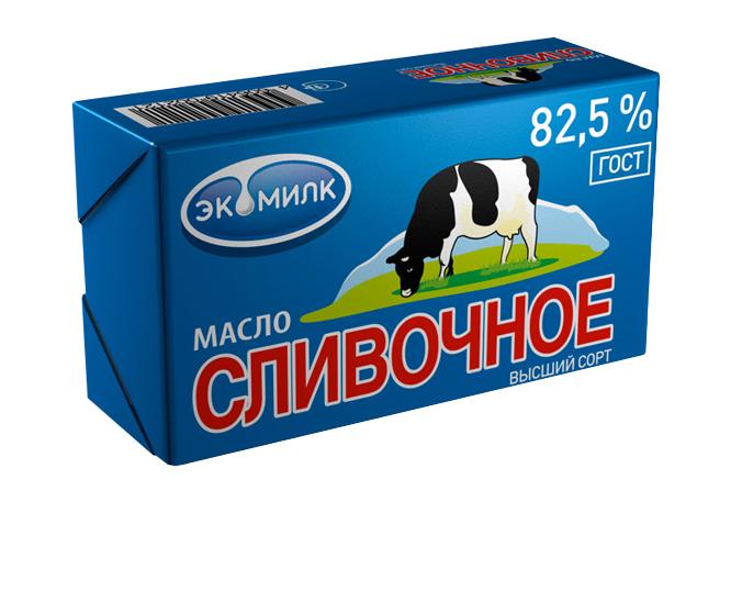 Масло Экомилк сливочное 82,5% 450г
