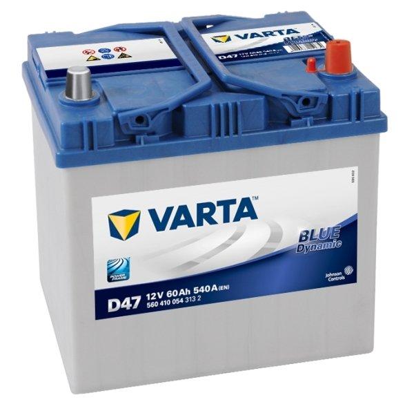 Аккумулятор VARTA D47 Blue Dynamic 560 410 054 обратная полярность 60 Ач