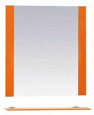 Misty Зеркало с полочкой Жасмин П-Жас03070-132, оранж пленка