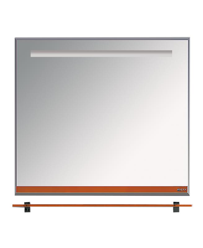 Misty Зеркало с полочкой Джулия Л-Джу03085-1310, оранжевое стекло