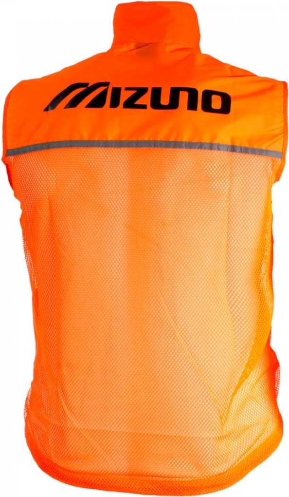 Жилет светоотражающий Mizuno Running Vest, XL, оранжевый, полиэстер
