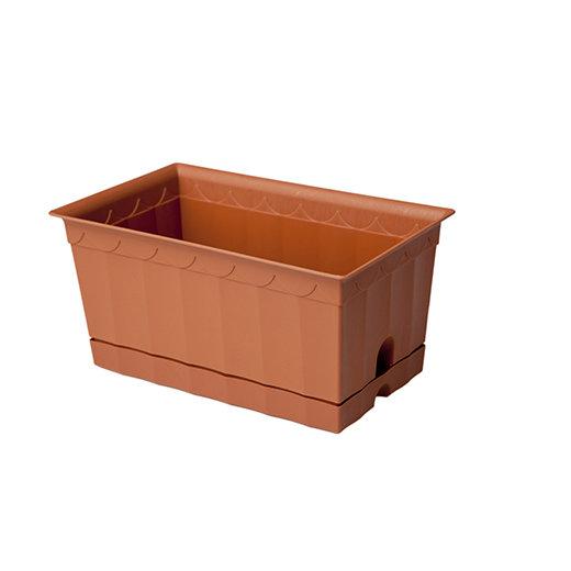 Ящик для цветов с поддоном 200*120*100 Полимербыт 119