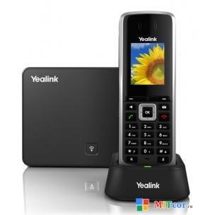 """VoIP-телефон YEALINK W52P DECT беспроводной телефон (база+трубка) HD звук, до 5 аккаунтов, цветной LCD-дисплей 1.8"""", поддержка PoE"""