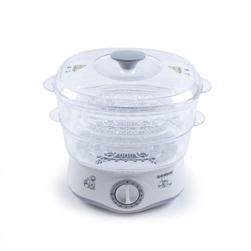 Пароварка ENDEVER Vita-160, белый/серый