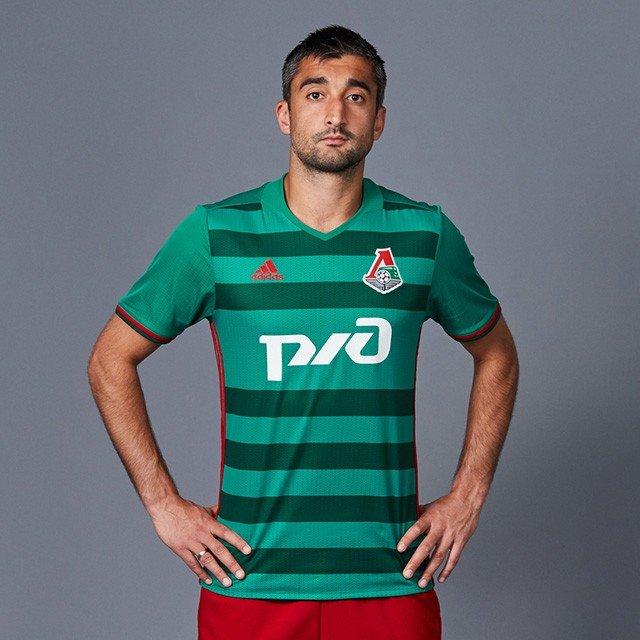 Форма футбольного клуба Локомотив 2016/2017 (комплект: футболка + шорты + гетры)