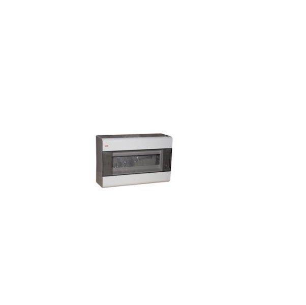 Бокс шкафа/щита ABB Europa Бокс навесной белый 12мод. с дымчатой дв. IP41 (1SL2462A00)