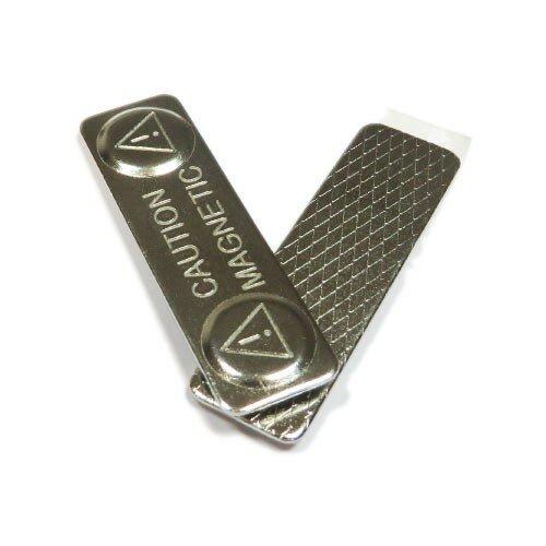 Магнитный держатель для бейджа 44х13 мм (металл)