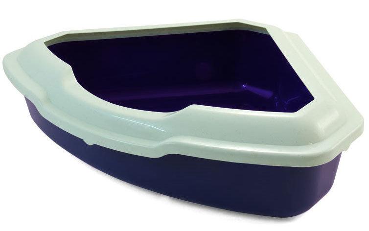 Туалет-лоток для кошек, угловой с высоким бортом, Triol CT03