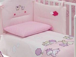 Постельное белье для кроватки Italbaby Allegra Fattoria Розовый