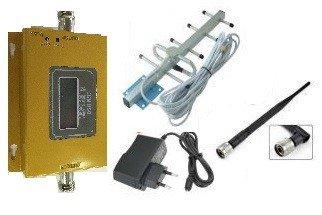 Усилитель репитер GSM 900 3G 900 МГц до 150м² с экраном (комплект)