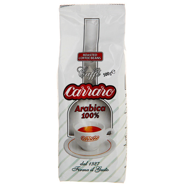 Кофе в зернах Carraro Arabica 100% 500гр.