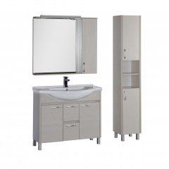 Комплект мебели Aquanet Донна 100 белый дуб
