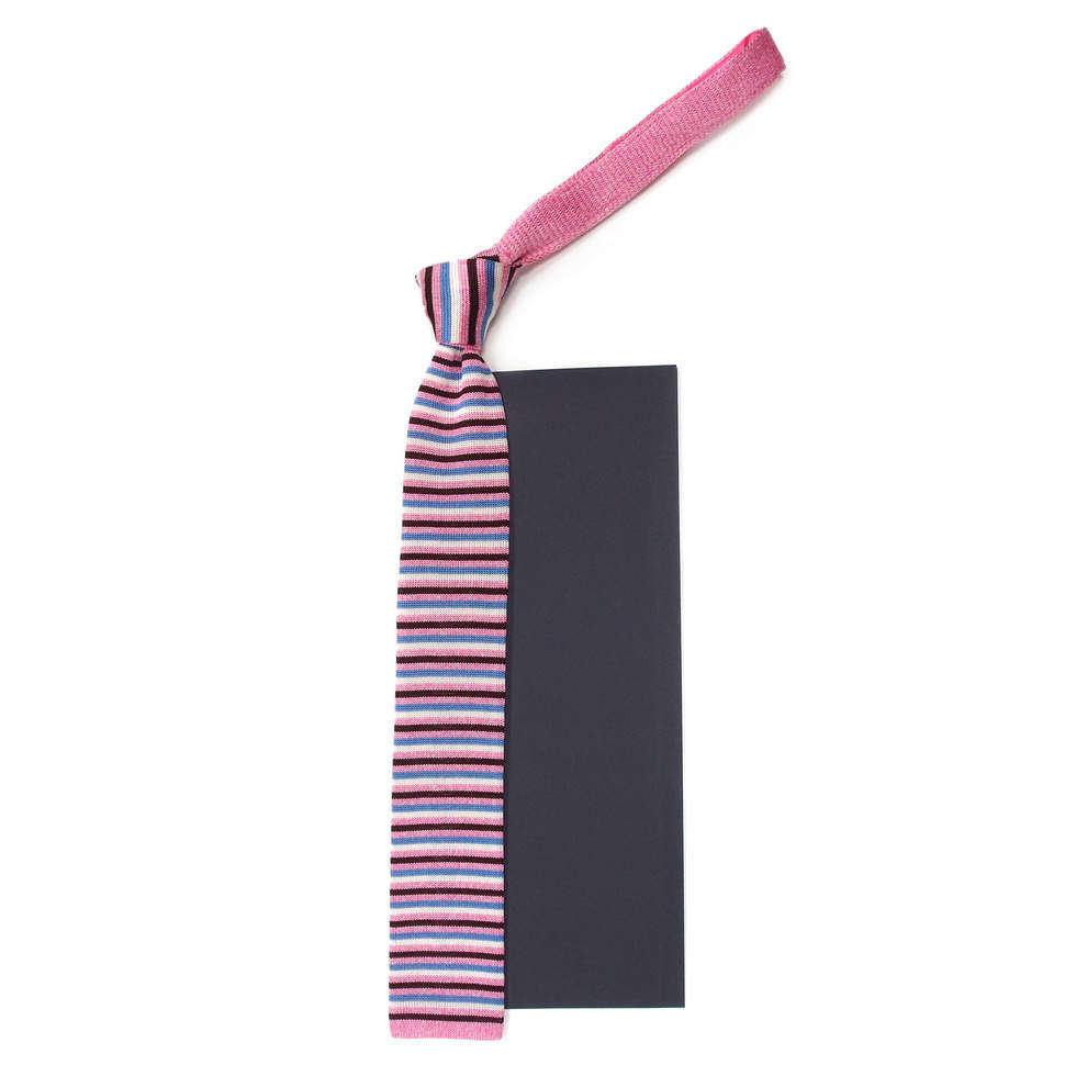 Молодежный вязаный галстук из шелка Maurizio Milano 827562