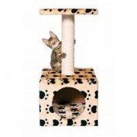 TRIXIE Домик для кошек *Zamora* с площадкой *Кошачьи лапки*, бежевый 61см