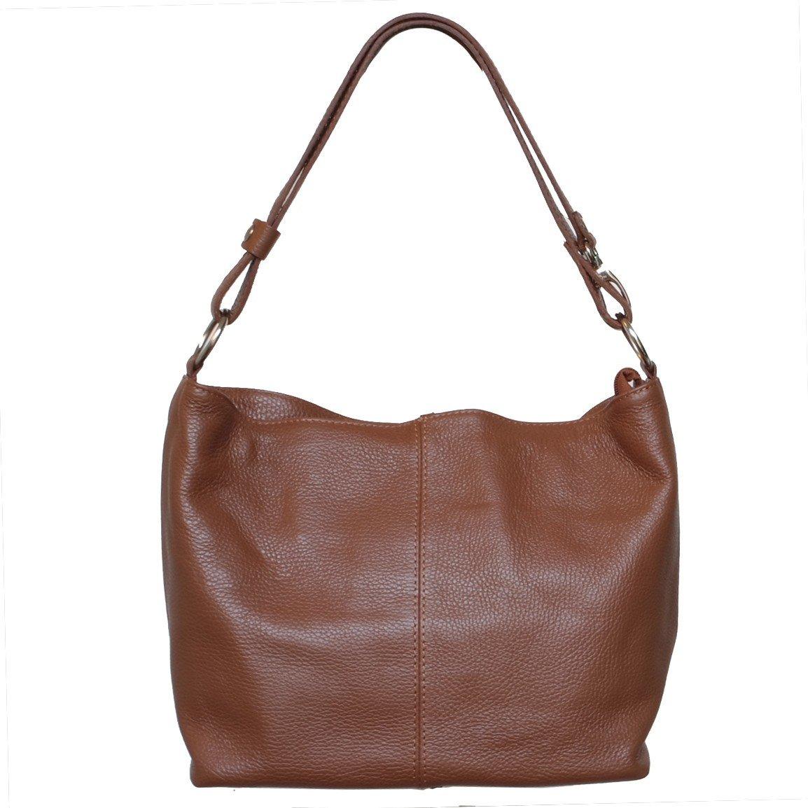8b8bece1fea3 Flora Espana Кожаная сумка трансформер - коричневая