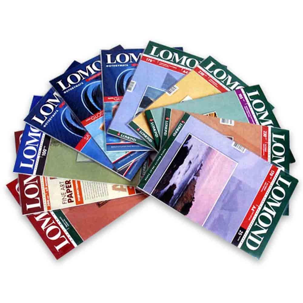 Самоклеящаяся фотобумага LOMOND, глянцевая, A4, 4 делен. (105x148.5 мм), 85 г/м2, 25 листов.