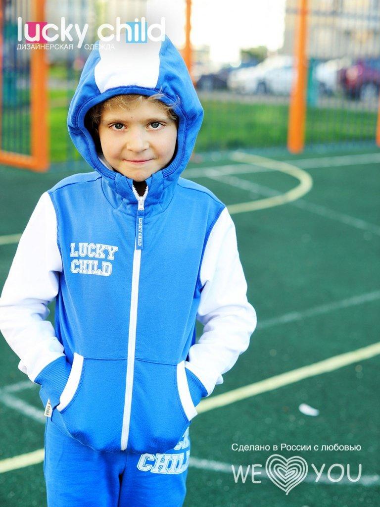 Спортивный костюм Толстовка/Брюки Lucky Child ', цвет: синий