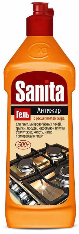 "Sanita гель для чистки кухонных плит ""Сицилийский лимон"" Антижир, 500 мл"