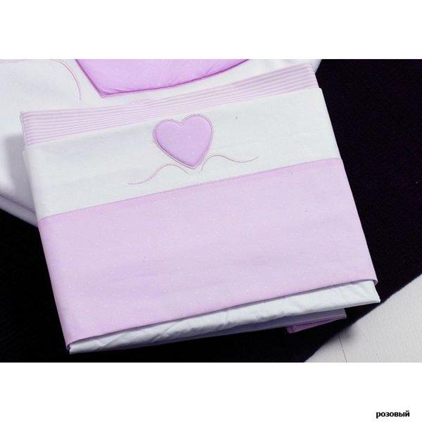 Комплект постельного белья 3 предмета Roman Baby Cuore Di Mamma 6117R Pink (Розовый)