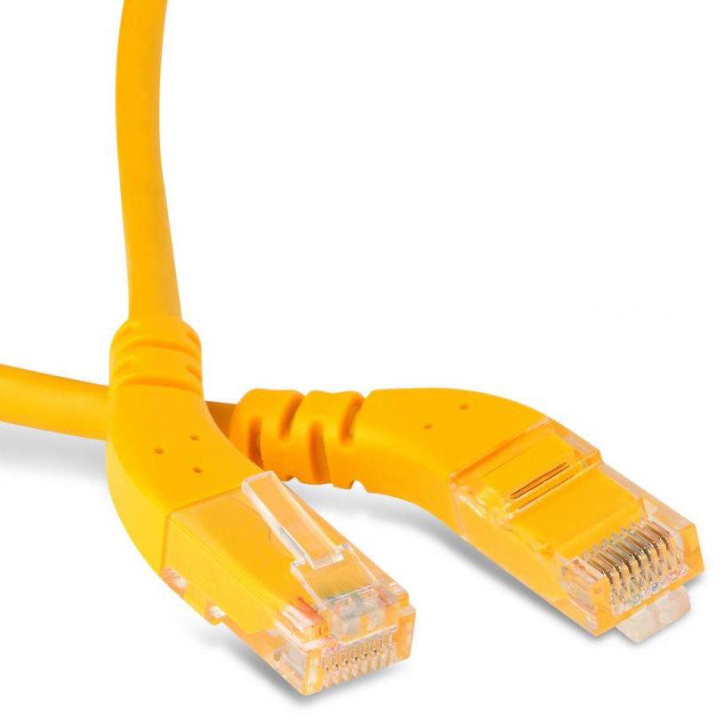 Кабель витая пара патч-корд Hyperline PC-APM-UTP-RJ45/L45-RJ45/L45-C6-2M-LSZH-YL 2.0m