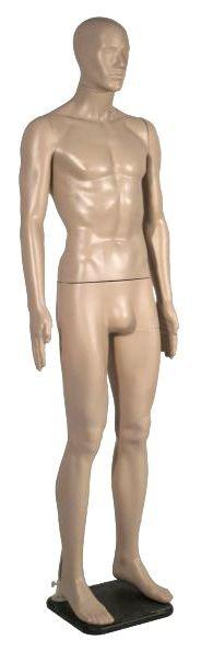 Манекен мужской, телесный, для оборудования магазинов одежды MMn-01(телес)